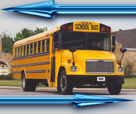 Example of a used school bus for sale, a 36 Student Capacity used school bus or converted for adults it seats a 24 adult capacity used school bus with diesel engine and an automatic transmission. It is a newer used school bus model for sale, possibly a bluebird or chevy school bus.